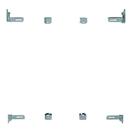 Baby Dan Flexi Fit Metal Puerta de seguridad blanca con gris