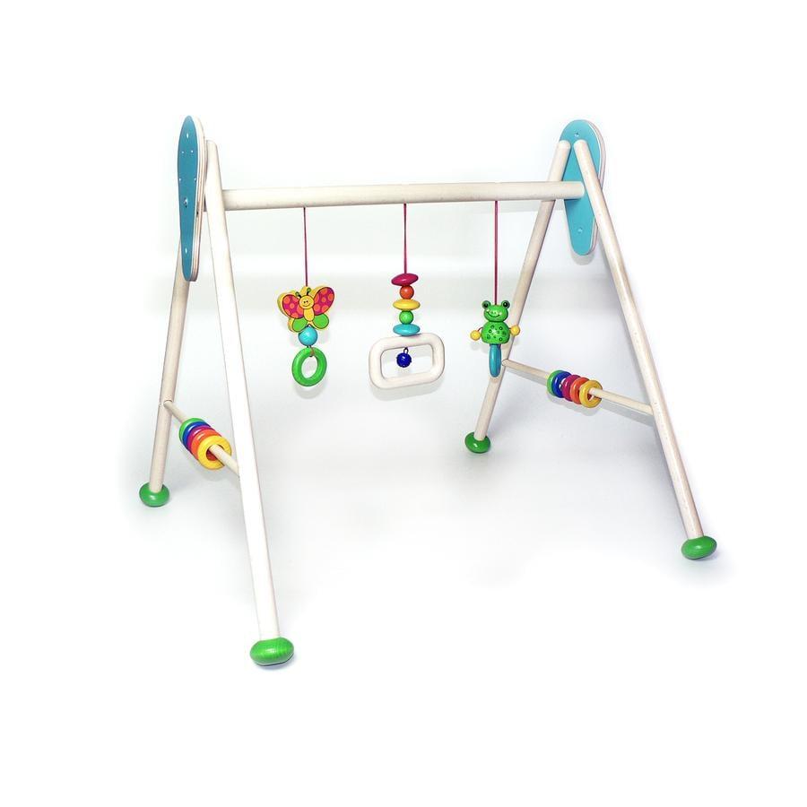 HESS Drewniany pałąk z zabawkami Żabka Toni