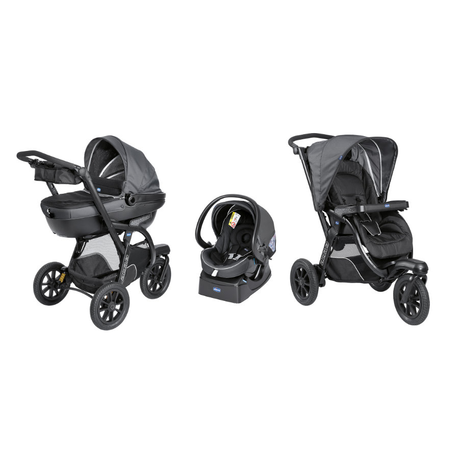 CHICCO Travel System Trio Activ3 + KIT-Car, Iron