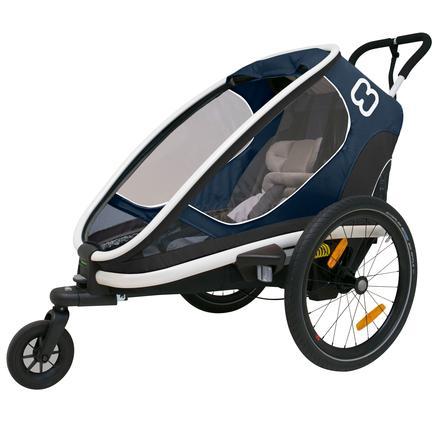 hamax Rimorchio per bici Outback One + regolazione dello schienale blu