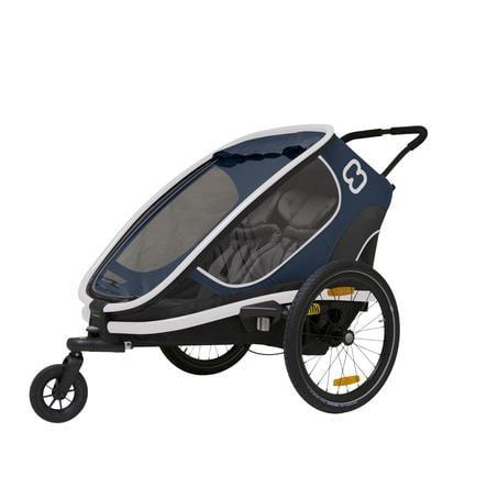 hamax Remorque vélo enfant Outback bleu/bleu marine