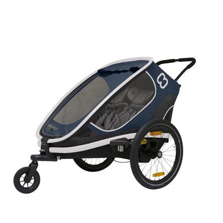 hamax Rimorchio per bici Outback con regolazione dello schienale - Navy/Blue