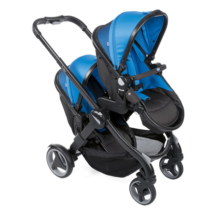 chicco søskendevogn Fully Twin Power Blue