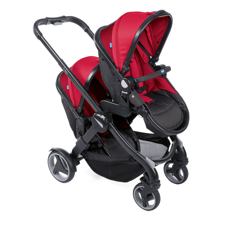 chicco Fully Twin søskensportsvogn Red Passion