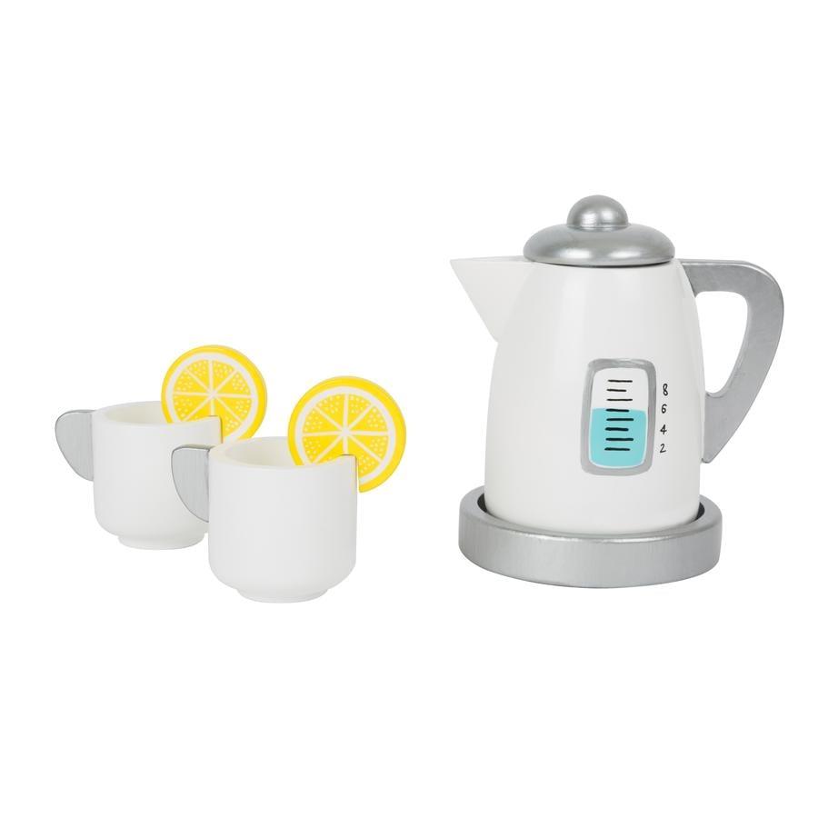 small foot Juego de té con cocina infantil Wasserk ocher