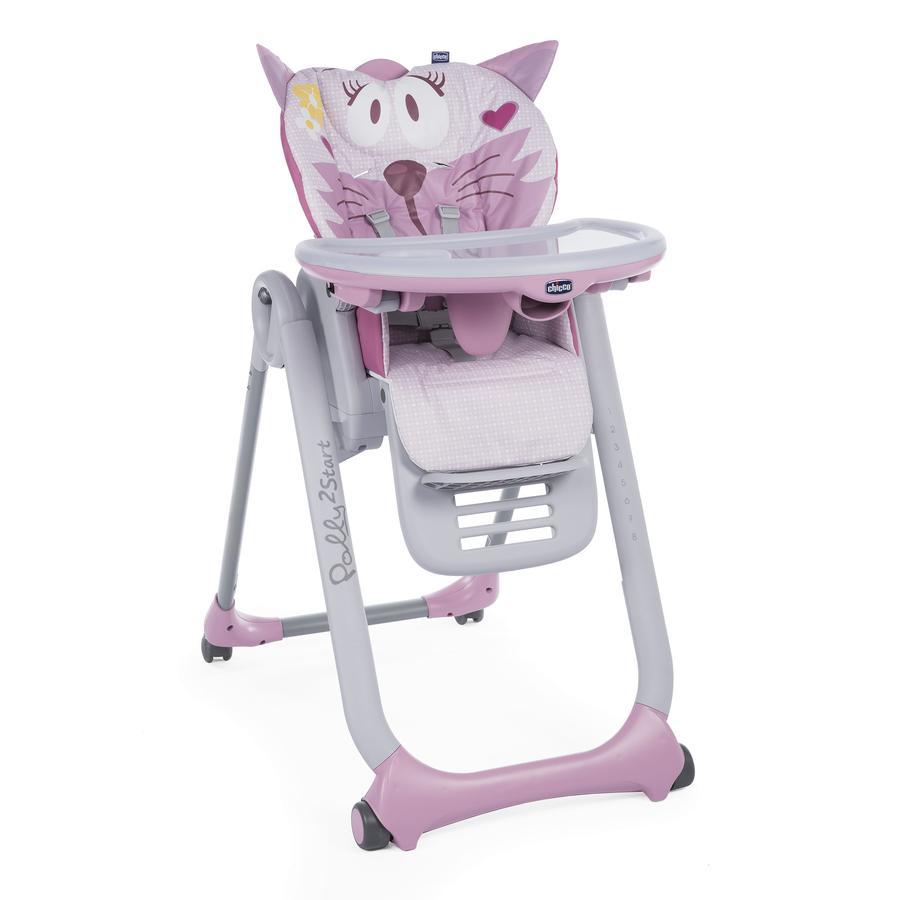 chicco jídelní židlička Polly 2 Start Miss Pink