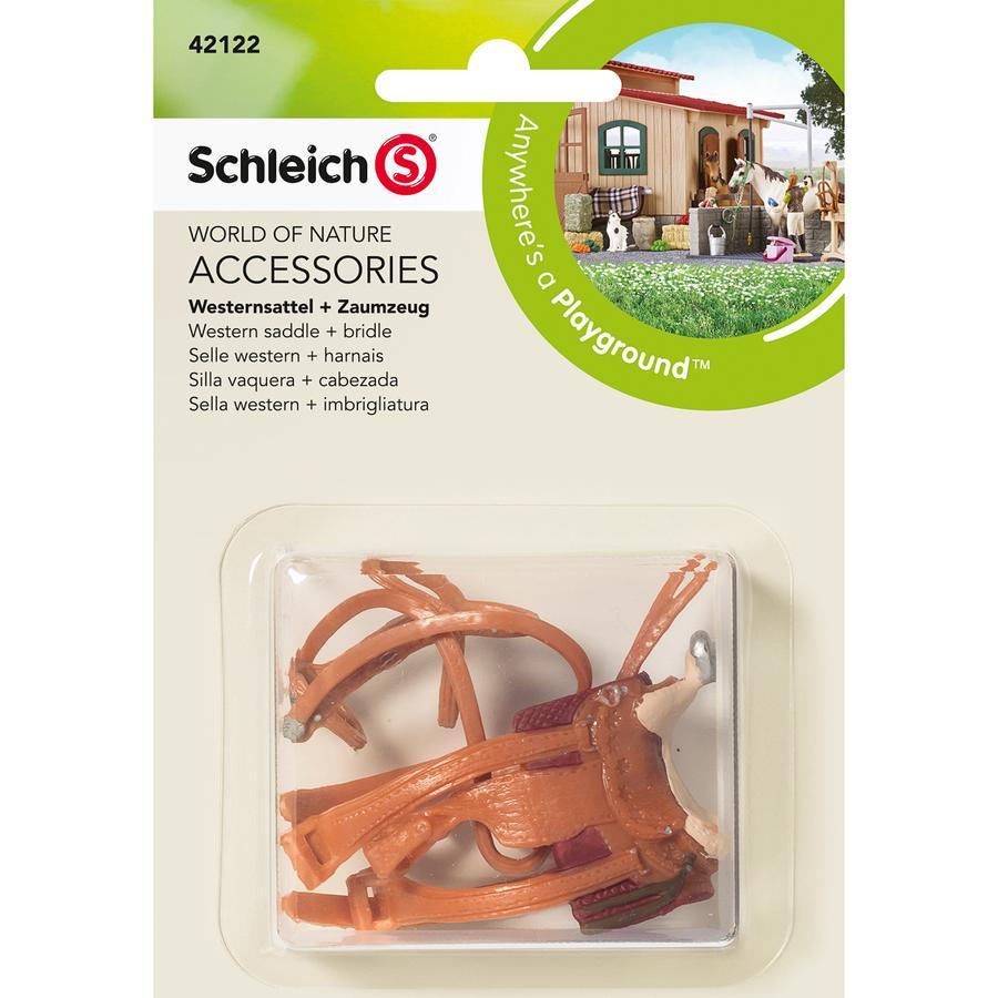 SCHLEICH Westernzadel + teugel 42122