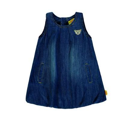 Steiff Girls Šaty bez ramene modrý denim