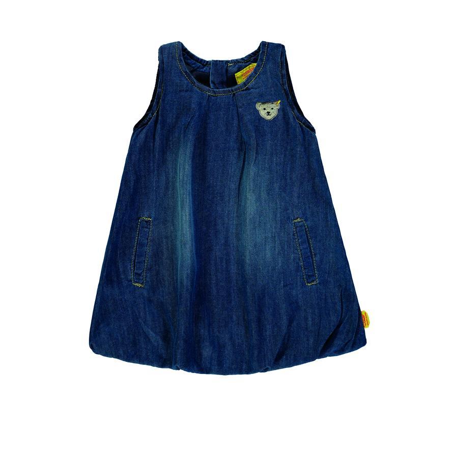 Steiff Girl s sukienka bez ramienia niebieskiego denimu