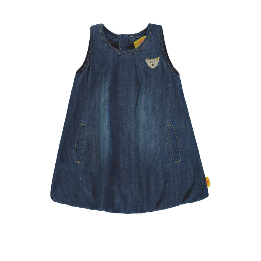 Steiff Girls Kleid ohne Arm blue denim