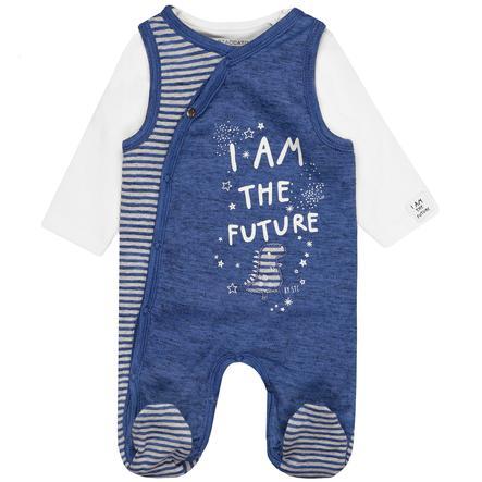 STACCATO Ensemble grenouillère bébé t-shirt mélange royal bleu