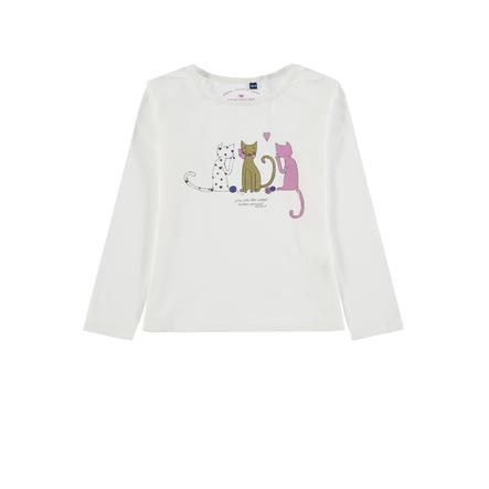 TOM TAILOR Girl s camisa de manga larga, blanca
