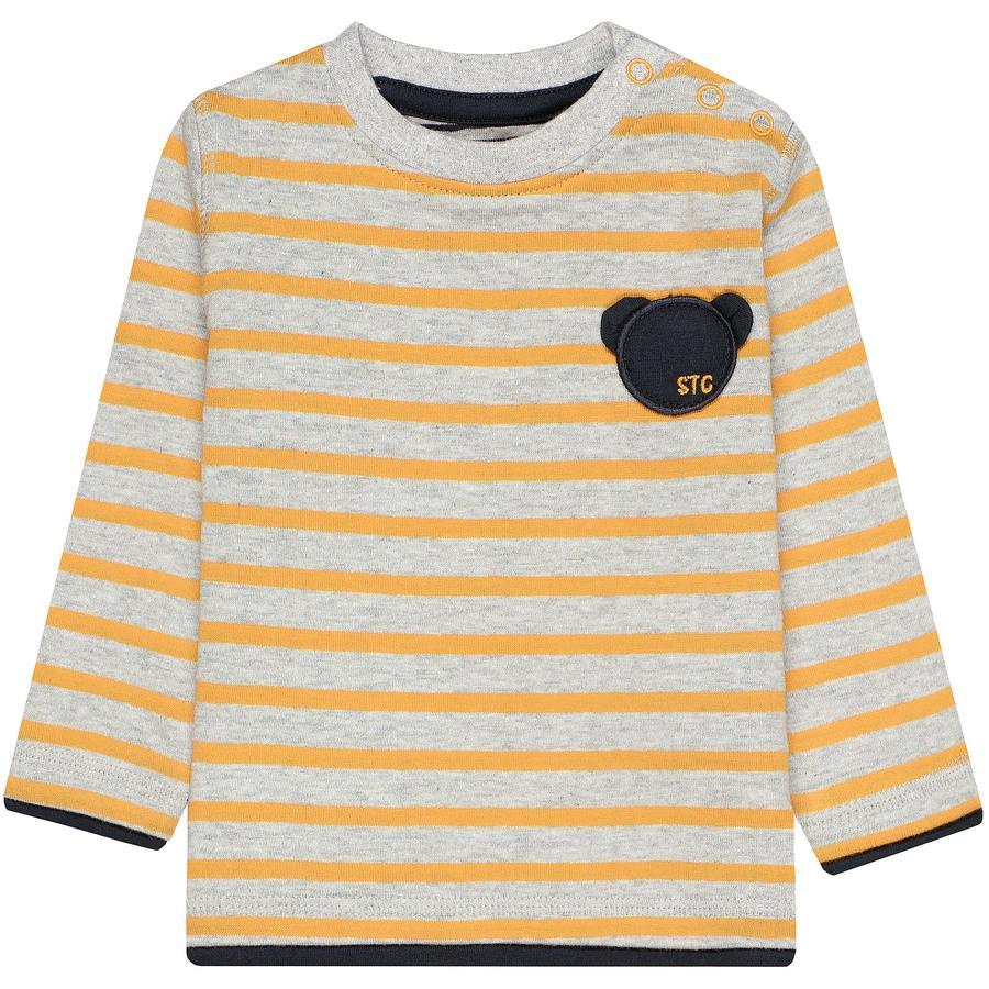 STACCATO Boys Camisa brillante curry rayado