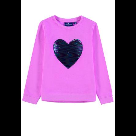 TOM TAILOR Girl s Sweatshirt met omkeerbare lovertjes roze