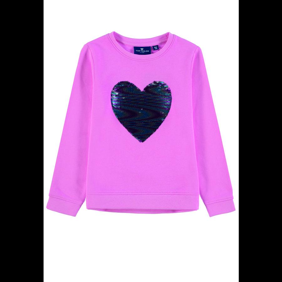 TOM TAILOR Girls Sweatshirt mit Wendepailetten rosa