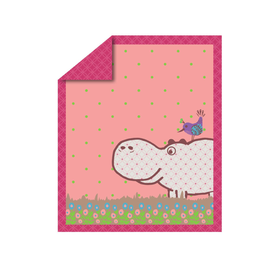 toTs by smarT rike ® - quilt Vreugde Hippo , pink 100x120 cm