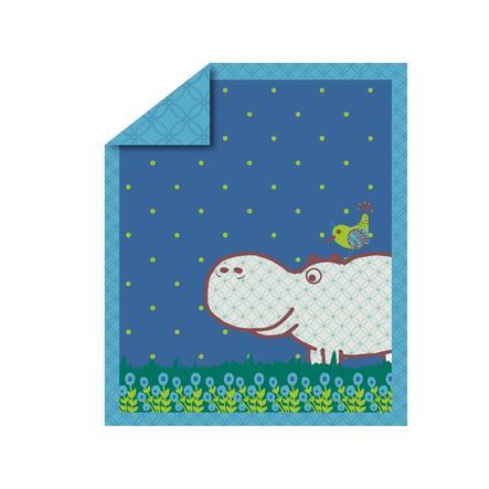 toTs by smarTrike® - Steppdecke Joy Hippo, blau 100x120 cm