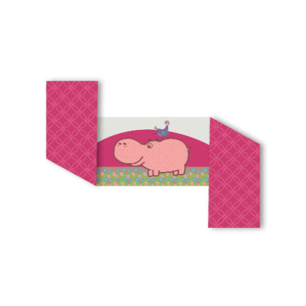toTs by smarTrike® Tour de lit Joy hippopotame, rose 32 x 176 cm