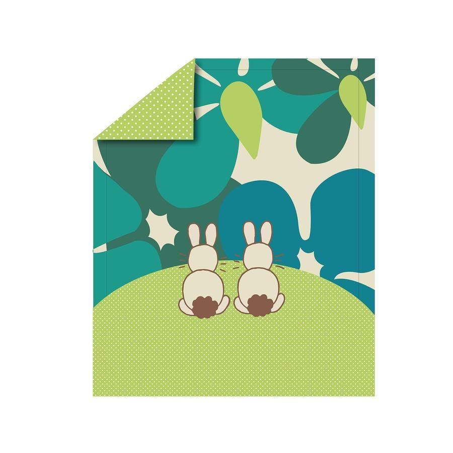 toTs by smarT rike ® - quilt Vreugde Rabbit , groen 100x120 cm