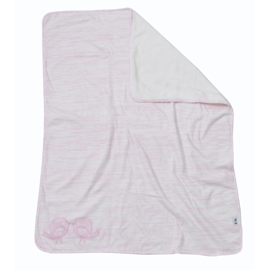 toTs by smarT rike ® - coperta coccolone Classic , pink 75x100cm