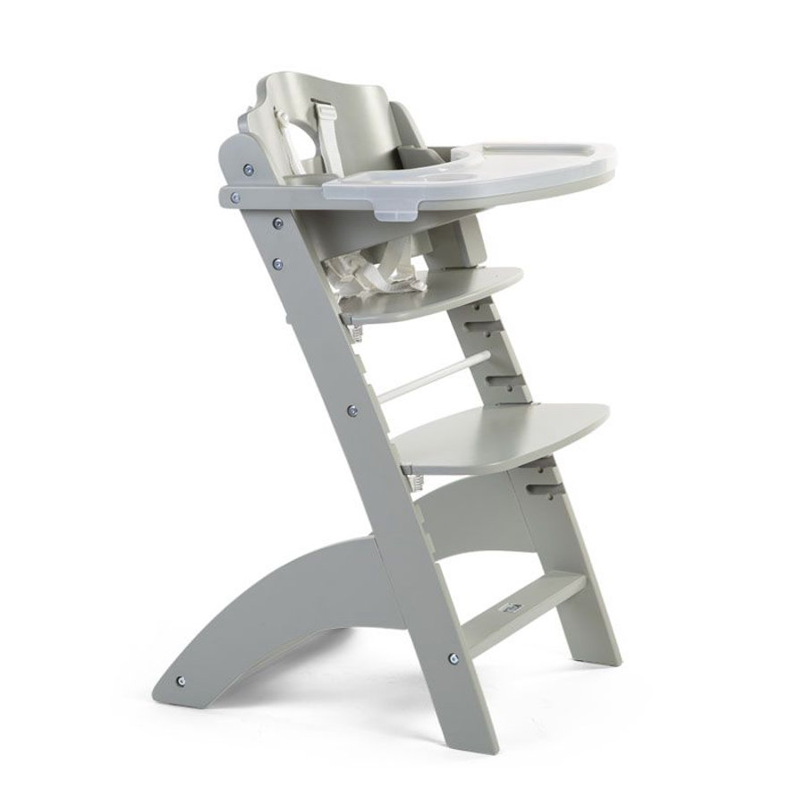 CHILDHOME Chaise haute enfant à marche Lambda 3 hêtre gris pierre