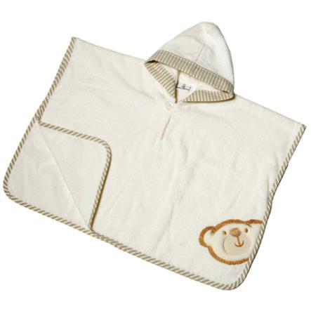 BeBes Collection Poncho de bain capuche Big Willi beige