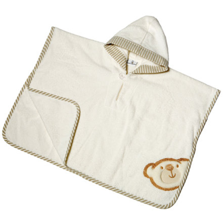 Be's Hooded Collection Bath poncho Big Bath Be's Hooded.  Willi beige