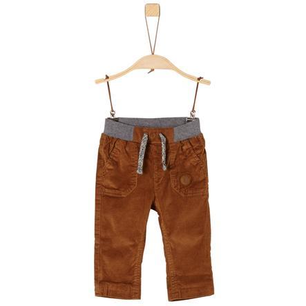 s. Olive r Chlapecké manšestrové kalhoty v koňakové barvě