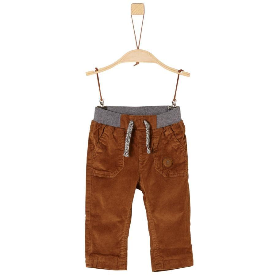 s.Oliver Boys Spodnie sztruksowe z koniakiem