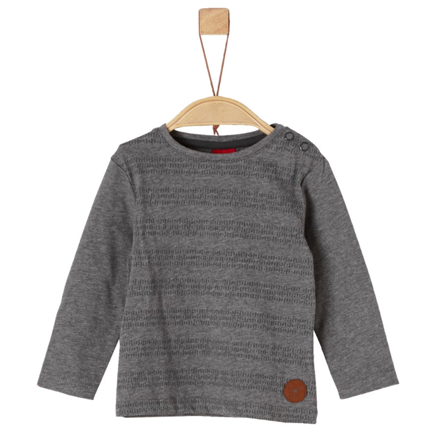 s.Oliver Boys Langarmshirt grey melange