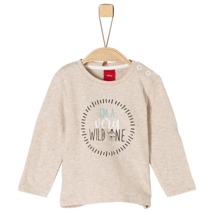 s.Oliver Boys Shirt met lange mouwen beige melange