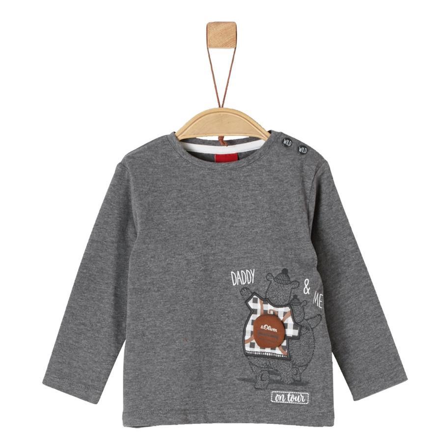 s.Oliver Boys Camisa manga larga gris mélange