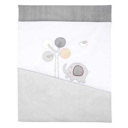 Prošívaná přikrývka Alvi Jumbo šedá 100 x 135 cm