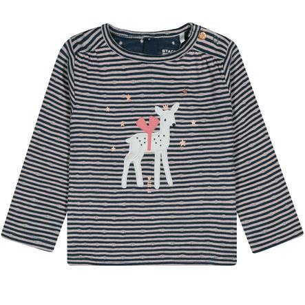 STACCATO Girls Sweatshirt deep blue stripes
