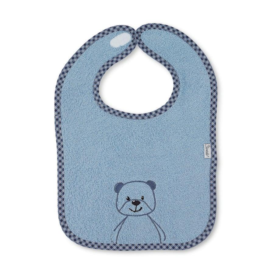 Sterntaler Bavaglino in Baylee polvere per orsetto in velcro Terry blue