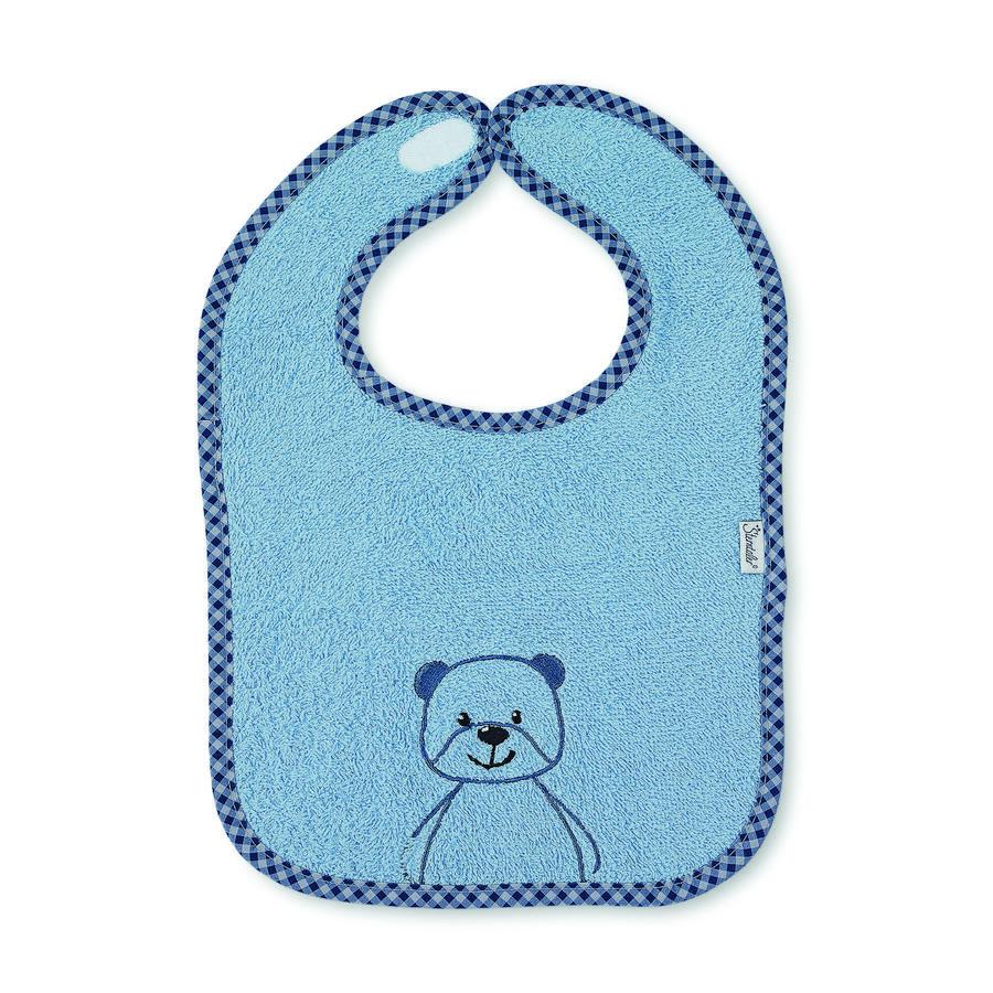 Sterntaler Haklapp med kardborreband Terrybjörn Baylee puder blue