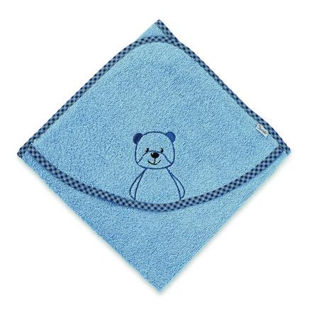 Sterntaler Cape de bain enfant ours Baylee bleu poudré 100x100 cm