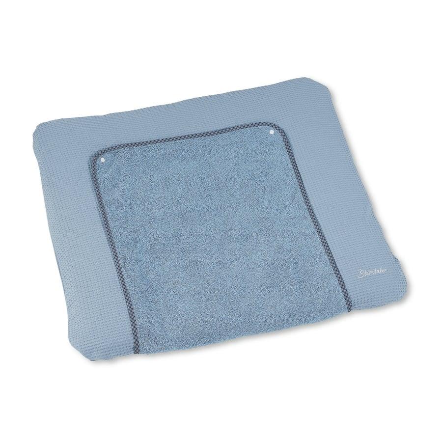 Sterntaler Housse de matelas à langer ourson Baylee puder blue 85x72 cm