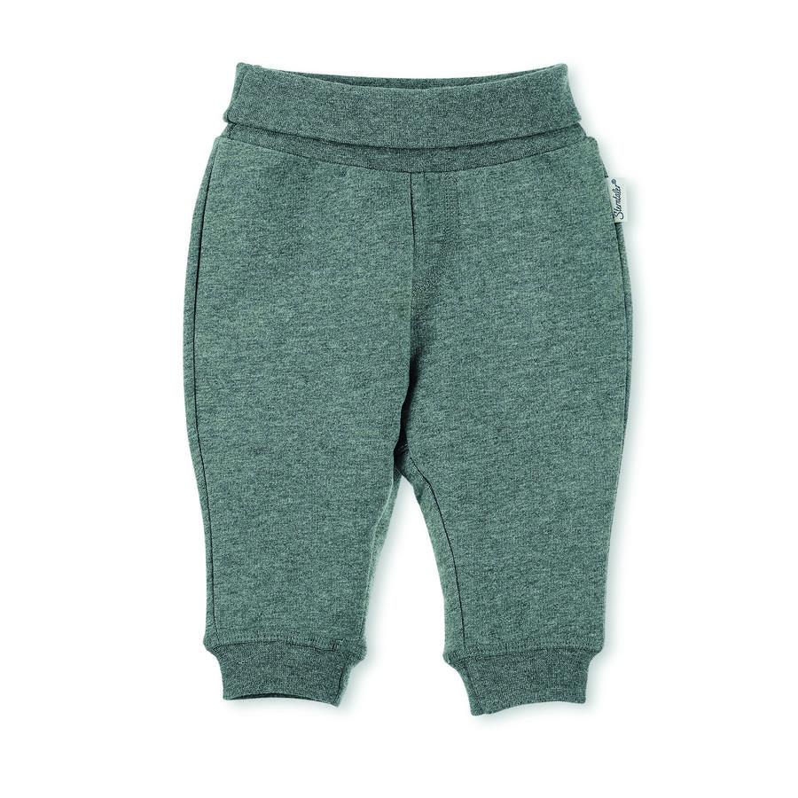 Sterntaler Pantalon de barboteuse Baylee vert fumé gris mélangé