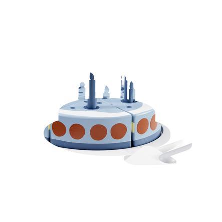 Kids Concept® Geburtstagskuchen mit Servierplatte blau