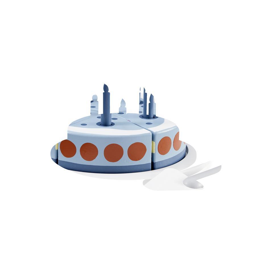 Kids Concept® verjaardagstaart met dienblad blauw