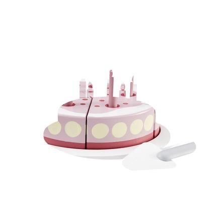 Děti koncept Narozeninový dort s obslužnou deskou růžová