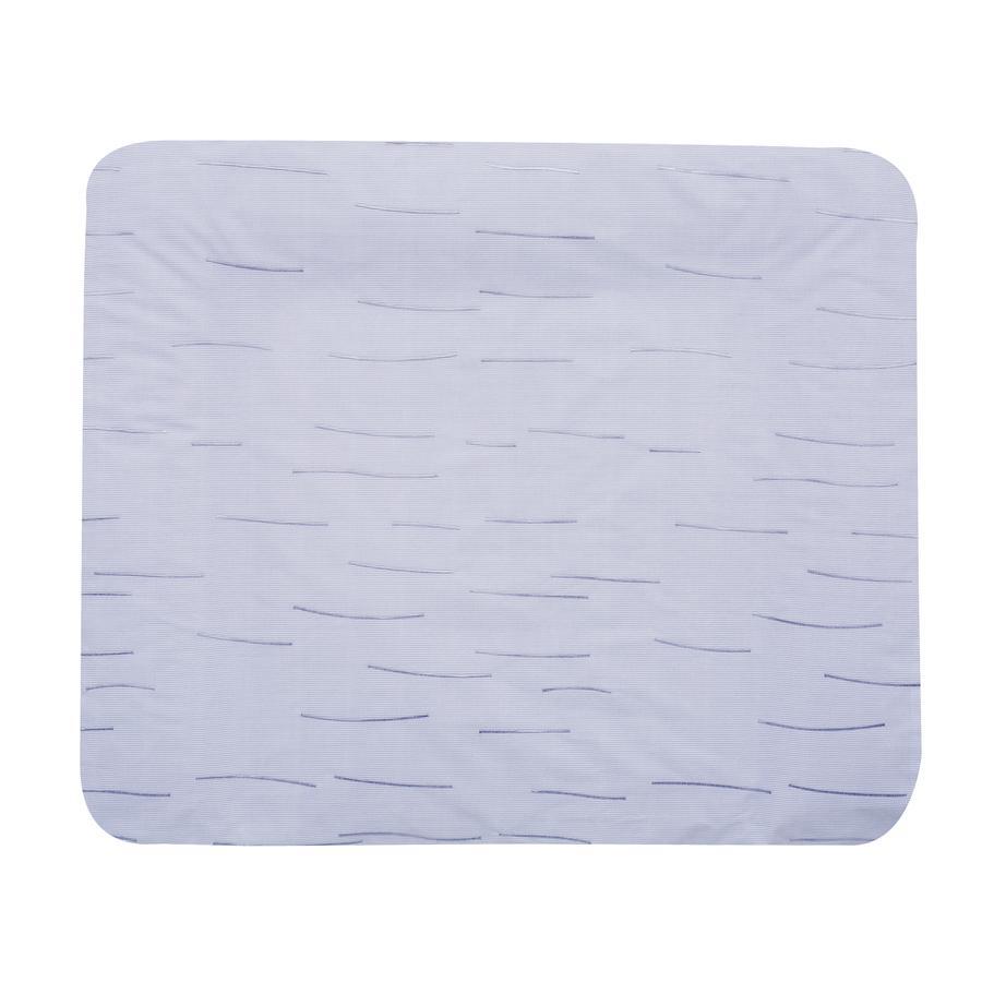 Alvi Housse matelas à langer rayures bleue, 70x85 cm