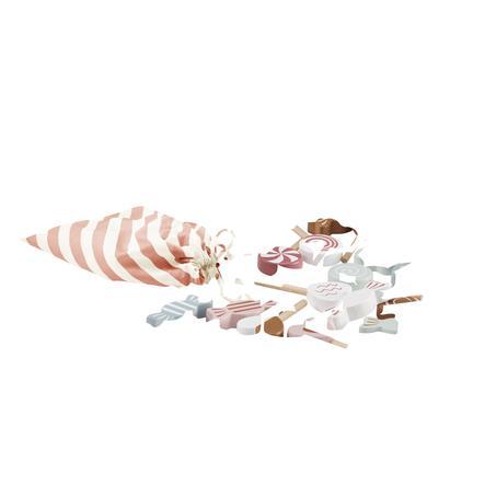 Děti koncept sladkosti s taškou