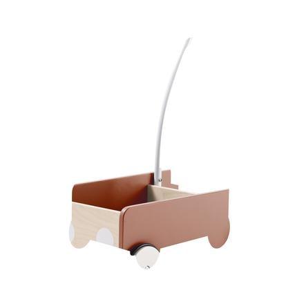 Kids Concept® Chariot à roulettes enfant, bois couleur abricot