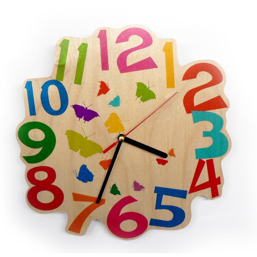 HESS Kwarcowy zegar ścienny Motylki