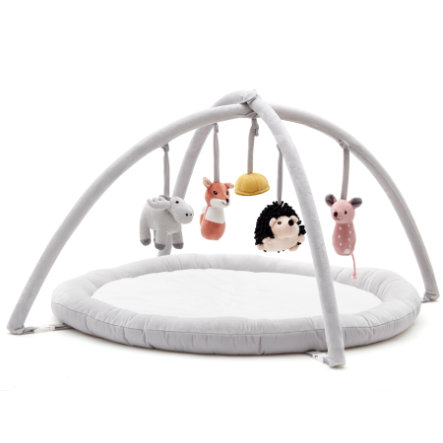 Kids Concept Babygym Edvin, bílá/šedá