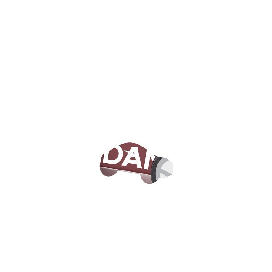 Kids Concept® Voiture de course Aiden rouge bois
