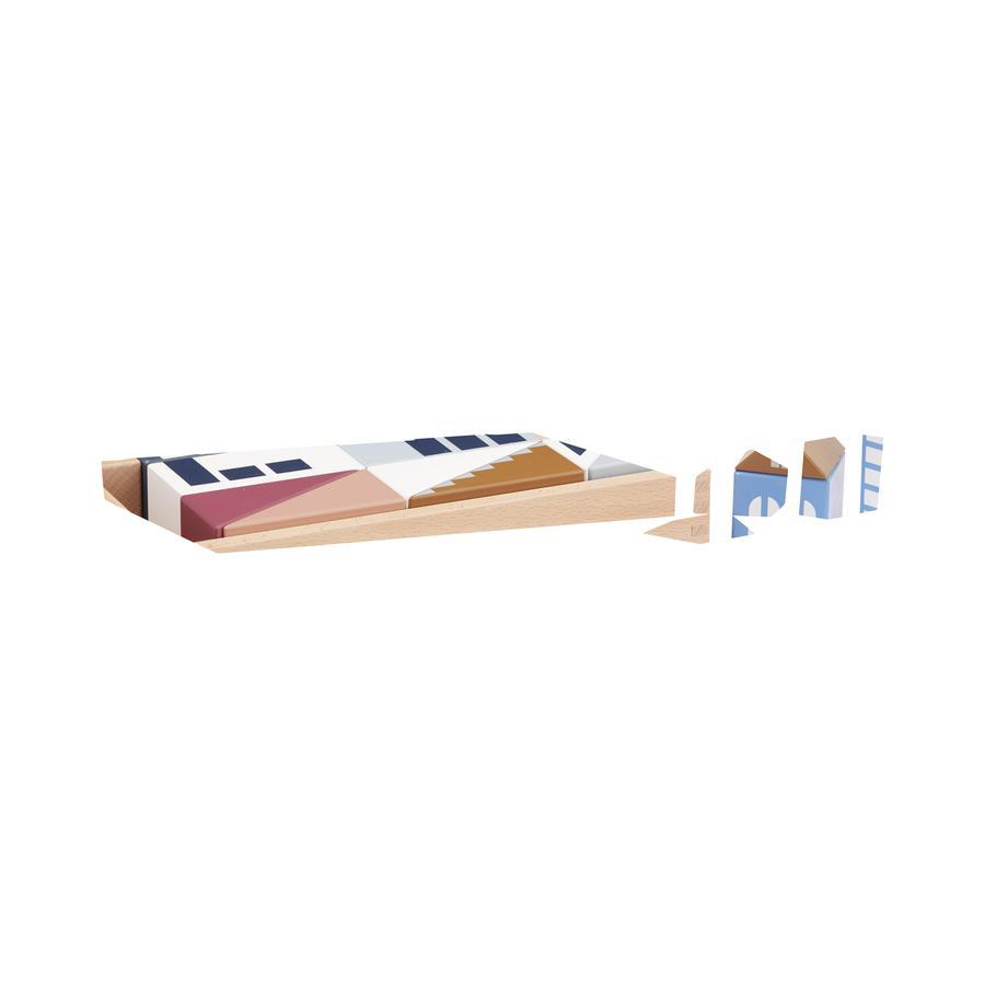 Kids Concept® Jeu de cubes immeubles Aiden bois