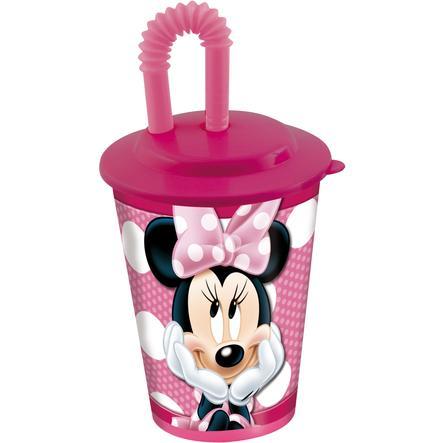 P:OS Trinkbecher mit Strohhalm - Minnie Mouse